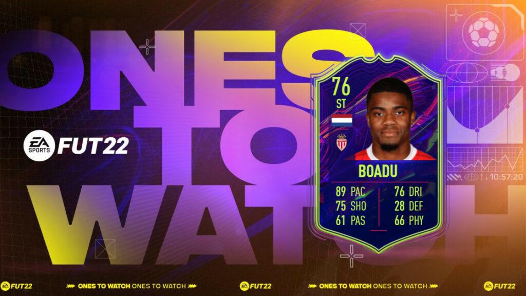 FIFA 22: Boadu OTW SBC