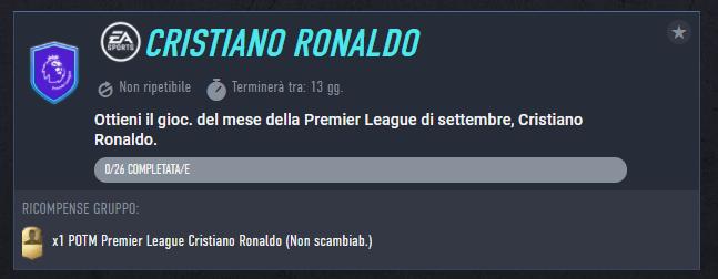 FIFA 22: requisiti SCR Cristiano Ronaldo POTM