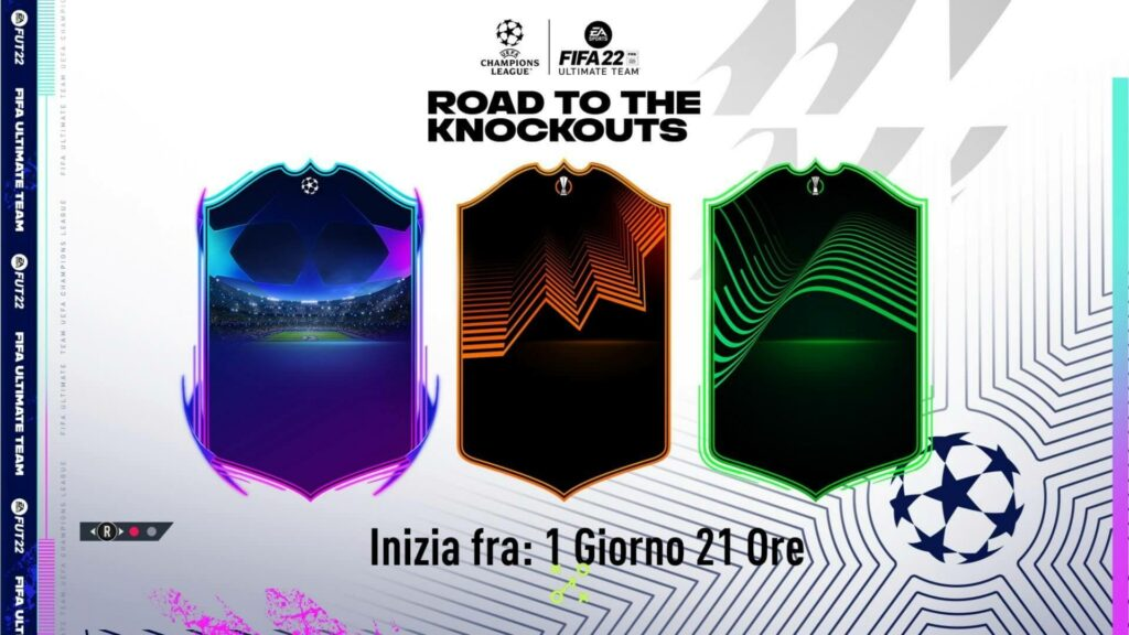FIFA 22: Road to the Knockouts official cards design