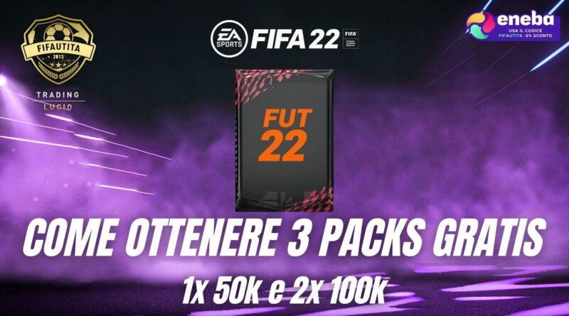 FIFA 22: come ottenere 3 pacchetti gratis in FUT del valore di 250.000 crediti