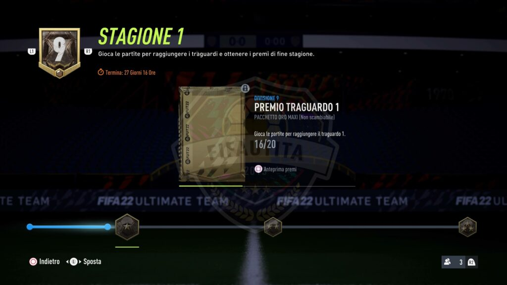 FIFA 22: traguardi e premi stagionali in Division Rivals